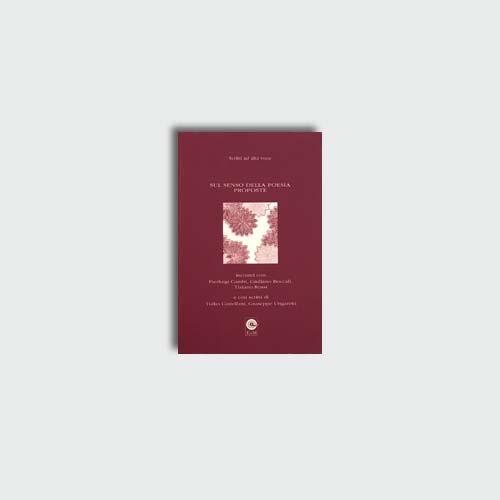Sul senso della poesia | Edizioni di Maieutica