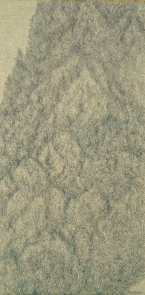 Zhang Jinhui, Cipresso, 2017 ,100×50cm | Edizioni di Maieutica