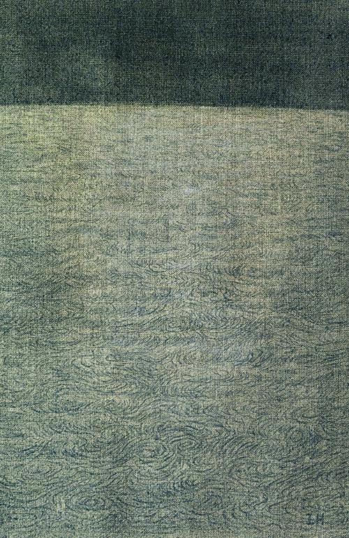 Zhang Jinhui. Notte, 2019, olio su tela, 44x30 cm | Edizioni di Maieutica